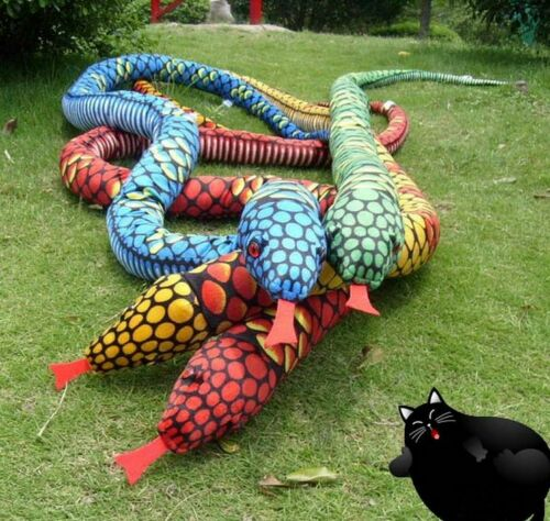 "62/"" Simulation Red Popular Snake Stuffed Plush Soft Toy-Boa Animal Birthday Gift"