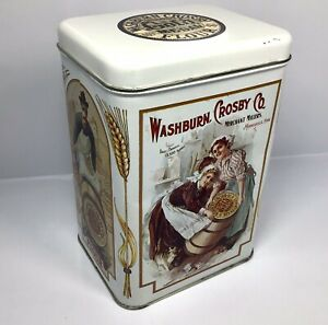 Vintage-Washburn-Crosby-Company-Gold-Medal-Flour-Tin-Canister-Empty