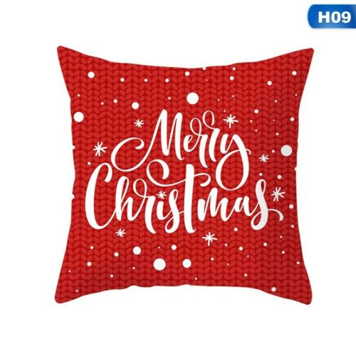 "18/"" Merry Christmas Pillow Pillowcase Cotton Throw Cushion Cover Home Xmas"