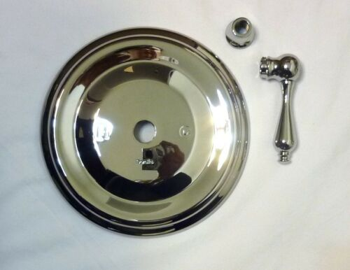 Doralfe//Phylrich Universal Brass P//B Shower Plate Lever Handle POLISHED CHROME