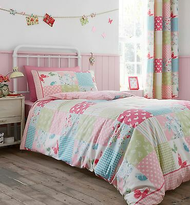 Catherine Lansfield Canterbury Patchwork Childrens Kids Duvet Cover Bedding