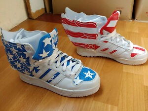 in stock 01cdd ffc23 Image is loading Adidas-Jeremy-Scott-Wings-2-0-US-FLAG-