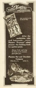 1920 Planters Nut & Chocolate Co Wilkes Barre PA Pennant bag perfect picnic ad