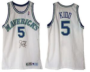 8903df6ab398 Jason Kidd game used Mavericks 1994 rookie basketball jersey sz 46 + ...