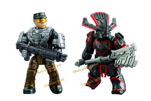 MEGA BLOKS boite neuve HALO figurines Covenant Police Cruiser Standoff ref 97452