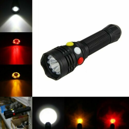 3-Modes 5000LM White Red Yellow Q5 LED Flashlight Torch Emergency Lamp Magnet