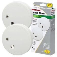 2 x Kidde i9040 Lifesaver Smoke Detector Fire Alarm Ionisation with 9V Battery
