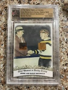 2012-13-ITG-History-Of-Hockey-Eddie-Shore-Ace-Bailey-Dual-Game-Used-Glove-1-10