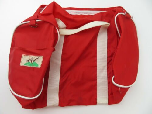 Vintage Land Rover Red White Duffel Overnight Gym