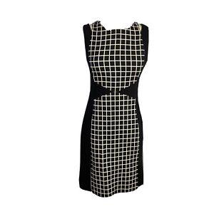 Veronika Maine Womens Size 6 A - Line Wiggle Midi Checked Dress