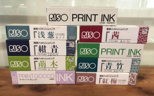 NEW Riso Print Gocco Hi-Mesh Ink For Paper You Pick Color 9 Different Colors