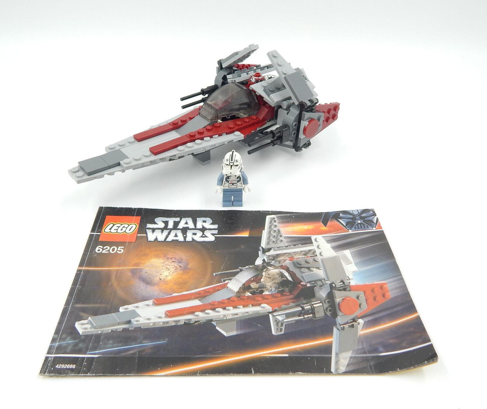 Lego Star Wars 6205 V-Wing Fighter - - - gebraucht 10241d