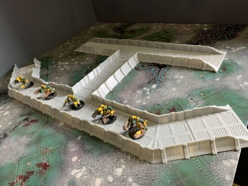 warhammer 40k wargame scenery terrain imperial trench line