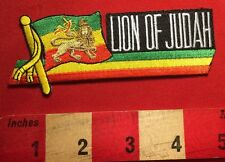 "THE LION OF JUDAH PATCH 3/"" Cloth Badge//Emblem Biker Jacket Rasta Haile Selassie"