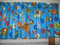 Dr.seuss Cat In The Hat Curtain Valance 42w X 14l Print