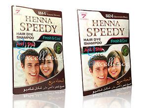 Shampoo Hair Dye By Henna Speedy 2 Of Shades Brown Fast Acting