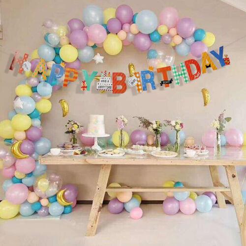 /'/' Happy Birthday /'/' Girlande Buchstaben Girlande Wimpelgirlande Hängende