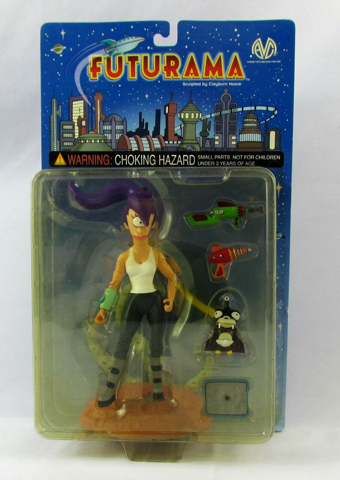 Futurama Leela Action Figure by Moore Collectibles 2000 New in Box Sealed MOC