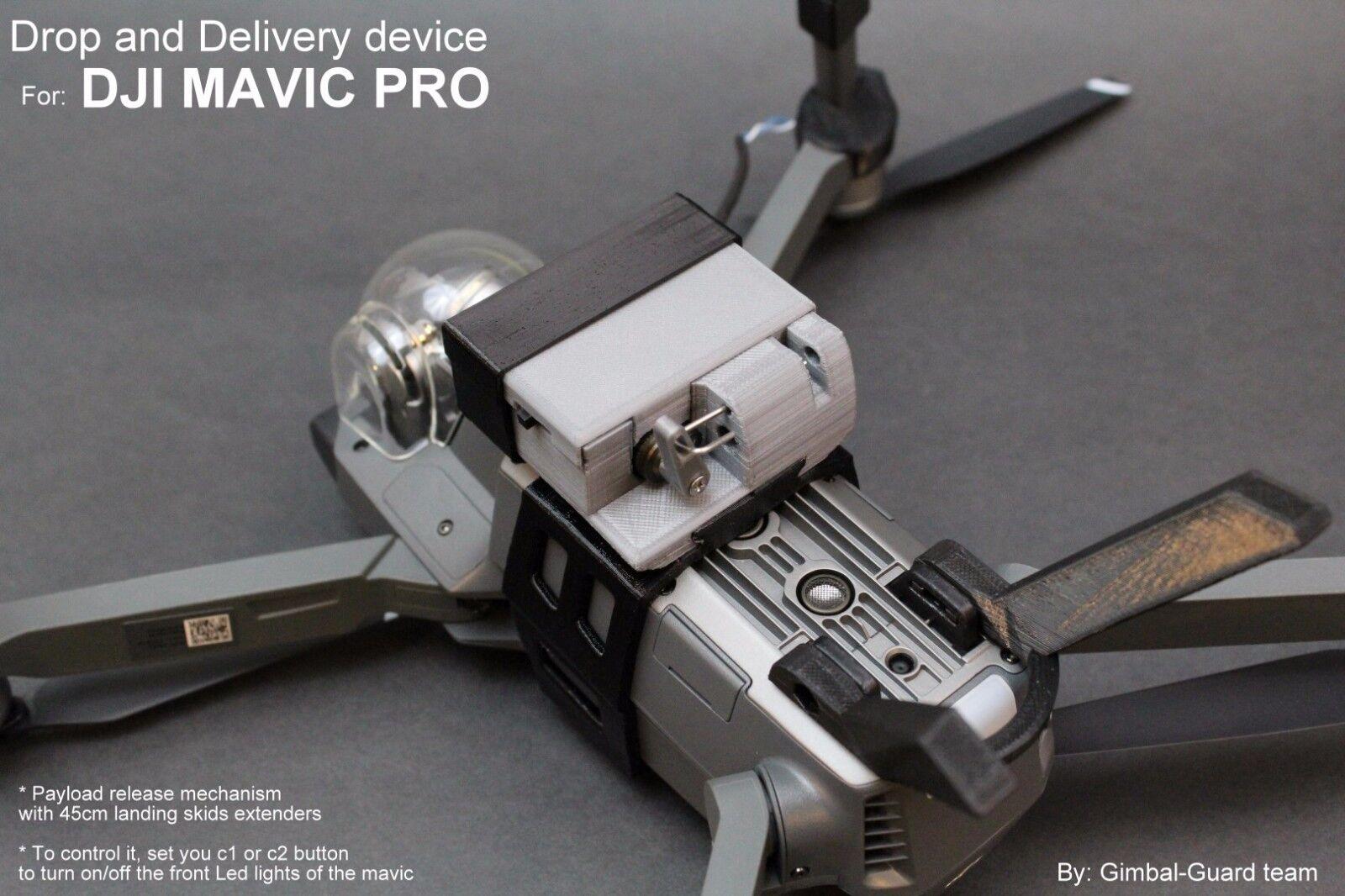Drop & dispositivo de entrega para DJI Mavic Pro. carga útil Liberación, Drone pesca, Rescate