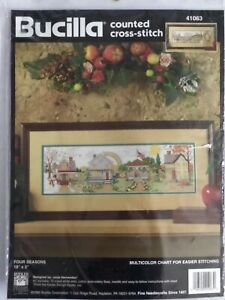 Bucilla-1995-Four-Seasons-Counted-Cross-Stitch-Kit-41063