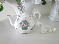 Royal Albert New Country Roses TEAPOT ORNAMENT New NO BOX Teal Background