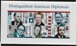 US-Scott-4076-Souvenir-Sheet-2006-American-Diplomats-VF-MNH