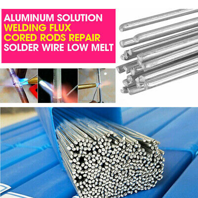 50x 2mm Aluminum Solution Welding Flux Core Rods Repair Solder Wire Low Melting