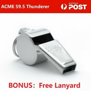 ACME-59-5-Thunderer-Whistle-Free-Lanyard-W-Ring-Official-Referee-Whistle-Medium