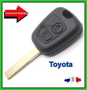 Coque-Telecommande-Plip-Cle-Bouton-Pour-Toyota-Aygo-Lame-Avec-Rainure