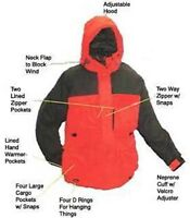 Arctic Armor Floating Extreme Weather Jacket Red Xl