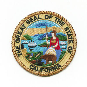 Kalifornien Sacramento California Siegel Flagge Patch Aufnäher Aufbügler 0528