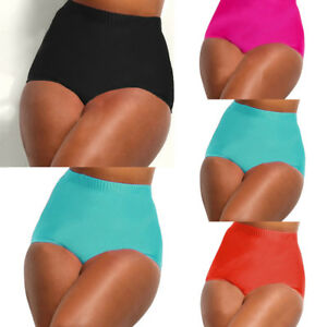 352e238e630 Details about Ladies High Waisted Bikini Tankini Bottoms Swim Briefs  Swimming Pants Bathing US