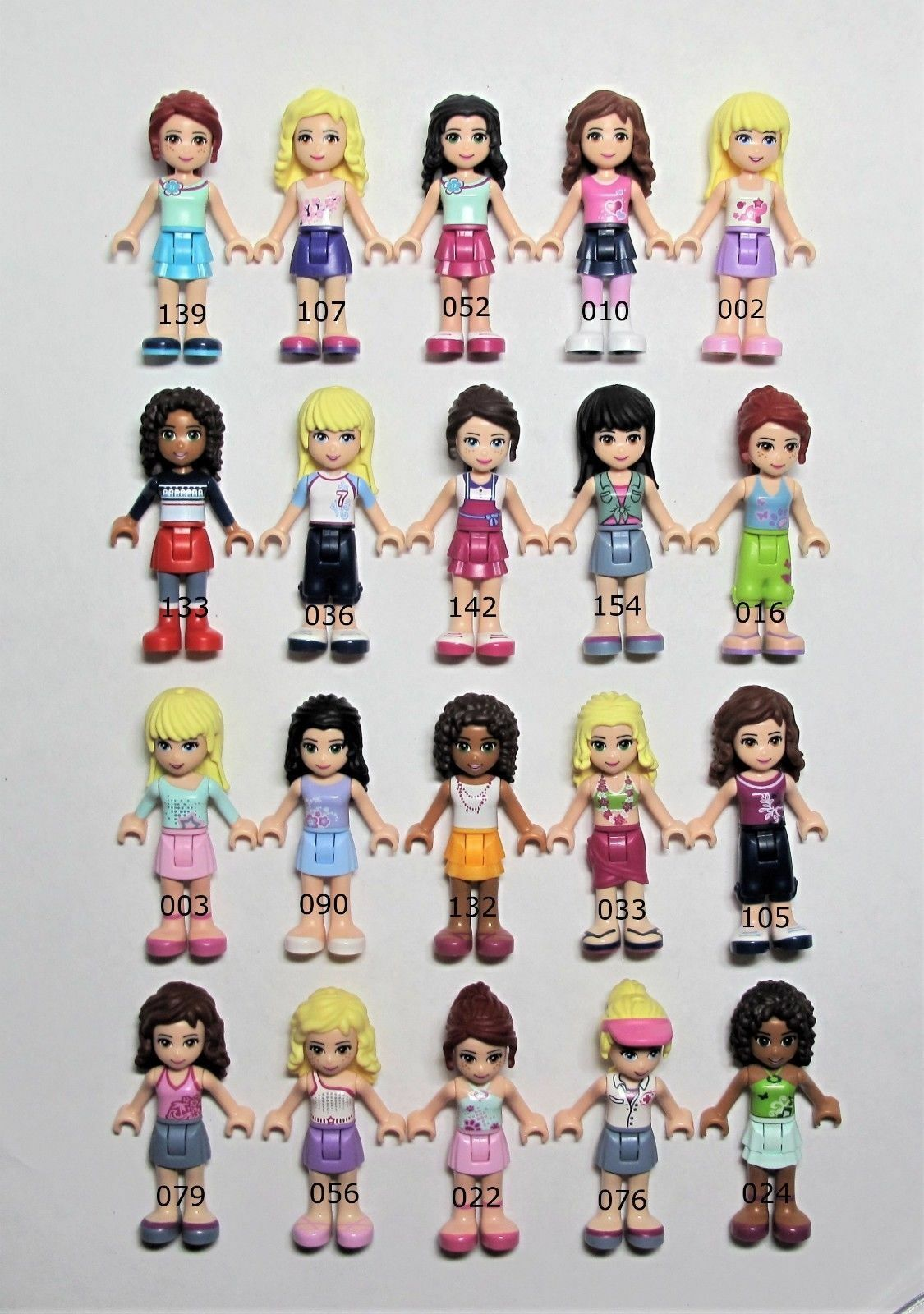 NEW Lego Lot of 20 All All All Genuine Lego Friends Minifigures Girls Dolls CUTE   4G 0fbeda