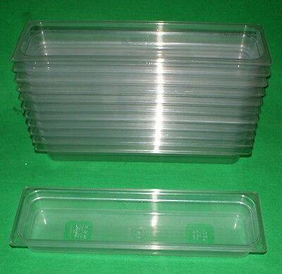 12 Stück RUBBERMAID GN 2/4  65 mm tief Gastronorm-Behälter Polycarbonat klar
