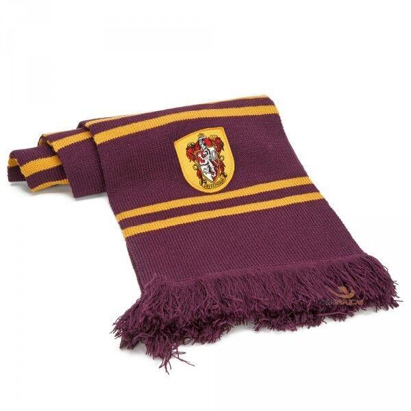 Harry Potter écharpe Gryffondor scarf Pourpre Or Harry Hermione Ron écusson 7157