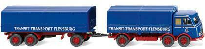 "MB LP 333 nuevo Wiking 042902-1//87 pritschenhängerzug /""transporte de tránsito/"""