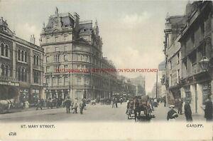 Wales-Cardiff-St-Mary-Street-Vintage-Postcard-9-11