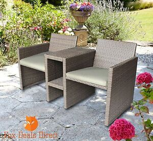 image is loading patio rattan garden furniture love seat companion 2