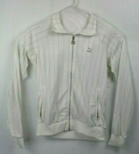 Tommie-Smith-Puma-Full-Zip-Sweat-Jacket-Men-039-s-Size-Medium-White