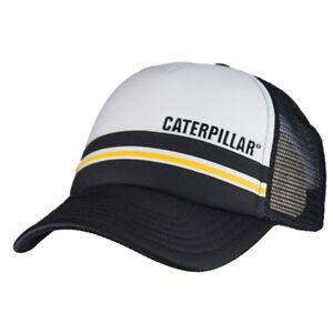85b6b3e4458 Image is loading Caterpillar-CAT-Equipment-Trucker-Black-White-Foam-Mesh-