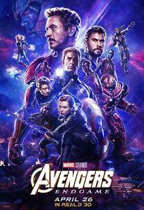 "FILM Cover Print Decor The Avengers 4 Endgame Movie Poster 36x24 18x12/"""