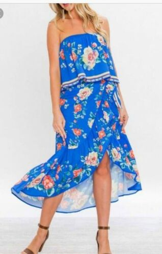 Piece Two Jowne Nwt Size Floral Blue Outfit Large E8OppwqP1