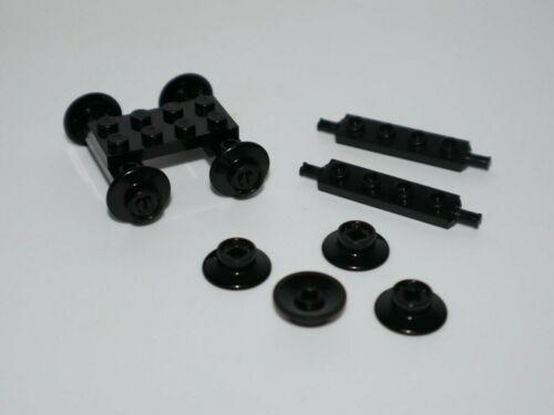 50254 LEGO x8 Small Nero//Treno Miniera Cart//Trolley Ruote//Parte NR
