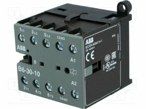NO x3 220÷·240VAC Auxiliary contacts: NO B6-30-10-80 Contactor:3-pole 6A
