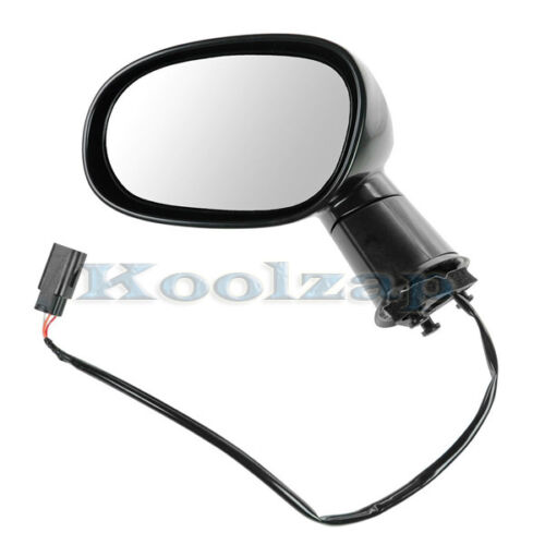 TYC 08-14 Challenger Power Non-Heat Fold Black Rear View Mirror Left Driver Side