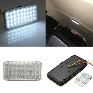 Car-Ceiling-Dome-Roof-Interior-12V-36-LED-Rectangle-Light-Reading-Light-White