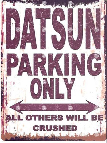 DATSUN  METAL PARKING SIGN RETRO VINTAGE STYLE car  shed garage workshop