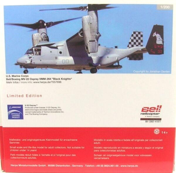 Compra calidad 100% autentica Bell   Boeing MV-22 Osprey - VMM-264 Negro Negro Negro Knights - US Marine Corps (Reg.  Envío rápido y el mejor servicio