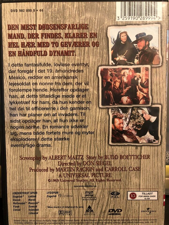 Two mules for Sister Sara, DVD, western