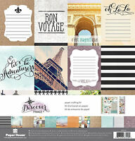 Paper House Discover France Scrapbooking Kit-12x12 Papers & Stickers Travel